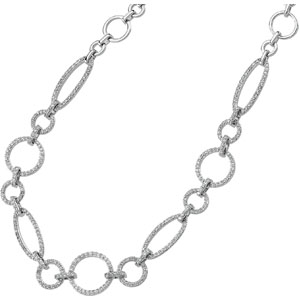 14K White Gold Diamond Necklace. Price: $4024.17
