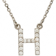 14K White Gold H Diamond Necklace