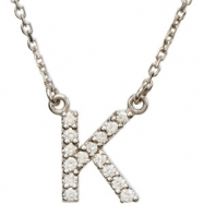 14K White Gold K Diamond Necklace