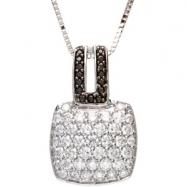 14K Gold Black And White Diamond Necklace