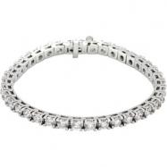 18K White Gold 7 1 4 Inch Diamond Tennis Bracelet