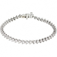 14K White Gold 7 1 4 Inch Diamond Line Bracelet