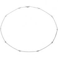 14K White Gold 16.00 Inch Diamond Necklace