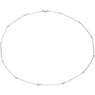 14K White Gold 18.00 Inch Diamond Necklace