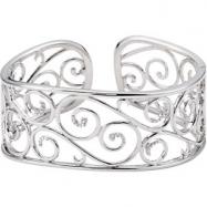 Sterling Silver Diamond Cuff Bracelet