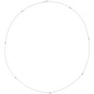 14K White Gold 24.00 Inch Diamond Necklace