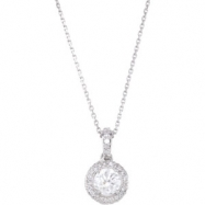 14K White Gold Diamond Entourage Necklace 18""""
