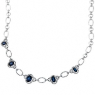 14K White Gold 18.00 Inch Diamond Necklace Semi Mount