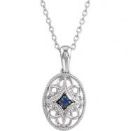 18.00 Inch Gemstone Necklace