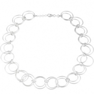 Sterling Silver 08.00 INCH STERLING SILVER CIRCLE CHAIN Sterling Silver Circle Chain