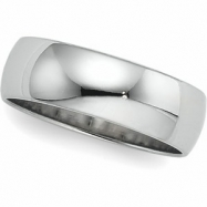 10K White Gold Light Half Round Band
