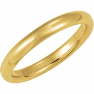 10K Yellow Gold Comfort Fit Band