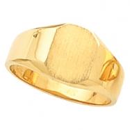 14K White Gold Octagon Signet Ring