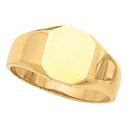 14K Yellow Gold Octagon Signet Ring