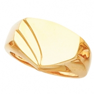 14K Yellow Gold Gents Signet Ring