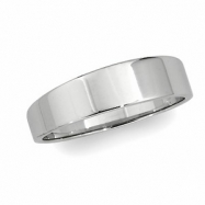 10K Yellow Gold Flat Tapered Band