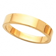 10K Yellow 04.00 MM Flat Tapered Band