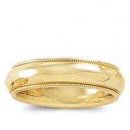 10K Yellow Gold Comfort Fit Milgrain Band