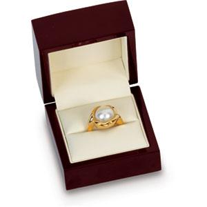 SINGLE Beechwood Ring Box. Price: $24.09