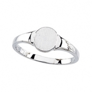 14K White RING Signet Ring