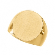 10K Yellow 22.00X20.00 MM Gents Signet Ring W/brush Fini