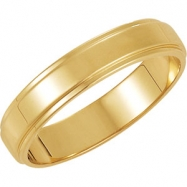 10K Yellow Gold Flat Edge Band