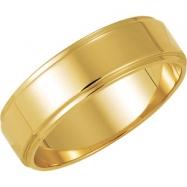10K Yellow Gold Flat Edge Band