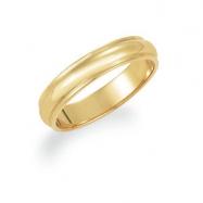 10K Yellow Gold Half Round Edge Band