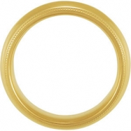 10K Yellow Gold Comfort Fit Milgrain Band
