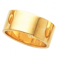 10K Yellow Gold Flat Band