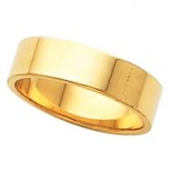 10K Yellow Gold Flat Band