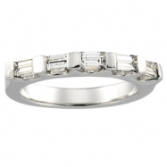14K White Gold Bridal Anniversary Band 5-stone