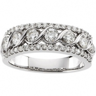 14K White Gold Bridal Anniversary Band