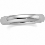 10K White Gold Comfort Fit Band