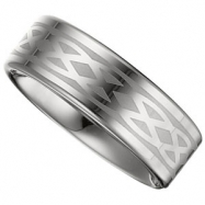 10.00 Flat Grey Laser Design Band