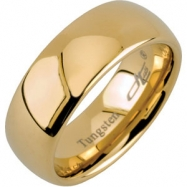10.00 Gold Immersed Plated Domed Polished Band