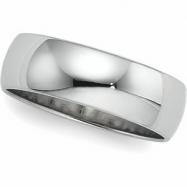 Platinum Light Half Round Band