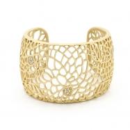 Matte Gold Floral Filigree Cuff