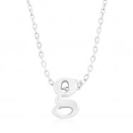 Silvertone Initial G Pendant