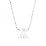 Silvertone Initial X Pendant