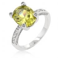 Peridot Anniversary Ring