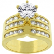 Formal Gold Tone Engagement Set