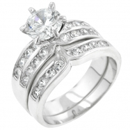 Formal Silver Tone Engagement Set