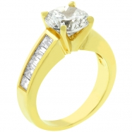 Classic Baguette Gold Anniversary Ring