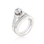 CZ Round Cut Ring Set