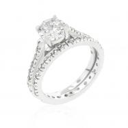 Glistening Engagement Ring Set