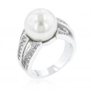 12 mm Shell Pearl Bridal Ring