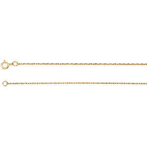 14kt Rose 16.00 INCH Polished ROPE CHAIN. Price: $74.25
