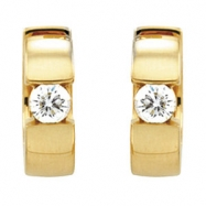 14kt White Pair 1/2 CTW Diamond Hinged Earring