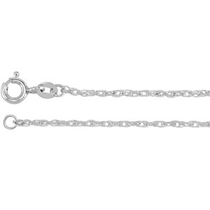 10kt White BULK BY INCH Polished ROPE CHAIN. Price: $3.84